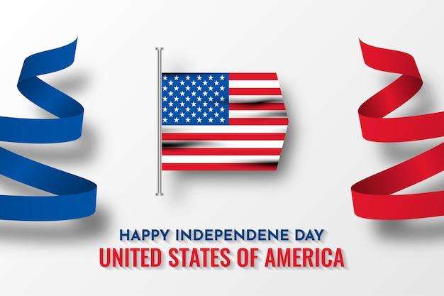 Happy independence day verenigde staten van amerika kaart sjabloonontwerp
