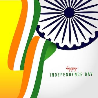 Happy india onafhankelijke dag sjabloon illustratie