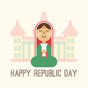 Happy india republiek dag illustratie