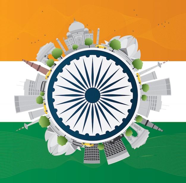 Happy indian republic day viering. illustratie.