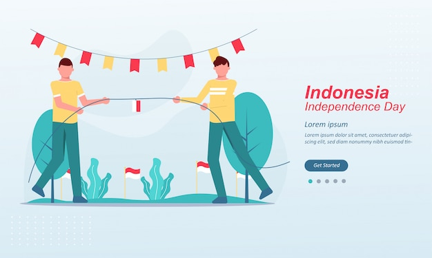 Happy indonesia independence day bestemmingspagina sjabloon