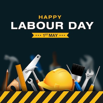 Happy international labor day 1ste may day workers day-viering