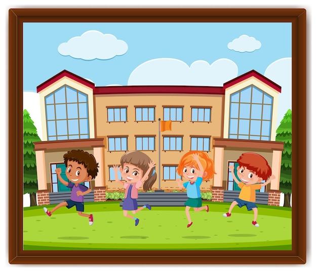 Happy kids foto in een frame