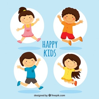 Happy kids illustratie