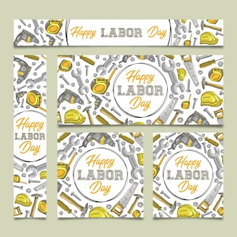 Happy labed day: reclamebanners