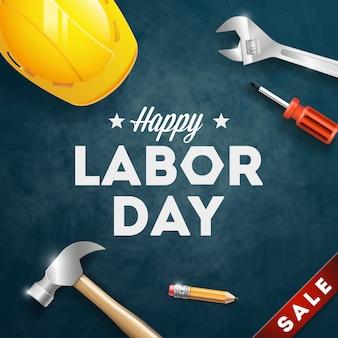Happy labor day banner. 1 mei. ontwerpsjabloon. vector illustratie