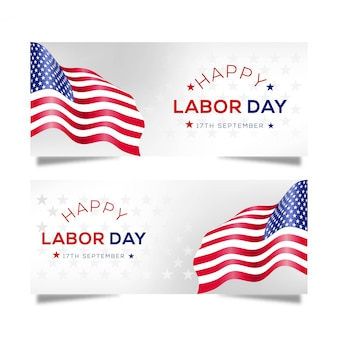 Happy labor day banner design