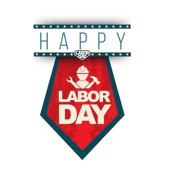 Happy labor day banner stropdas stijl