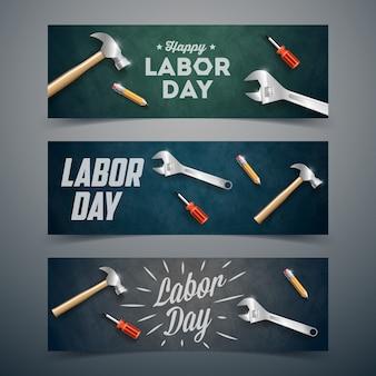 Happy labor day banner