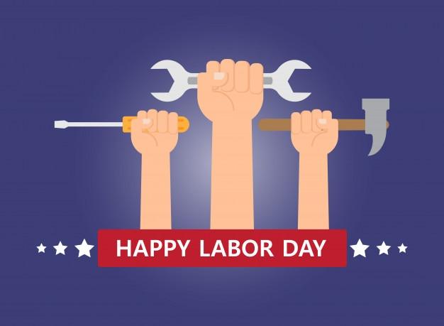 Happy labor day-banner