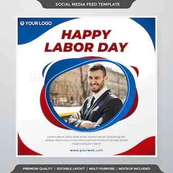 Happy labor day instagram postsjabloon