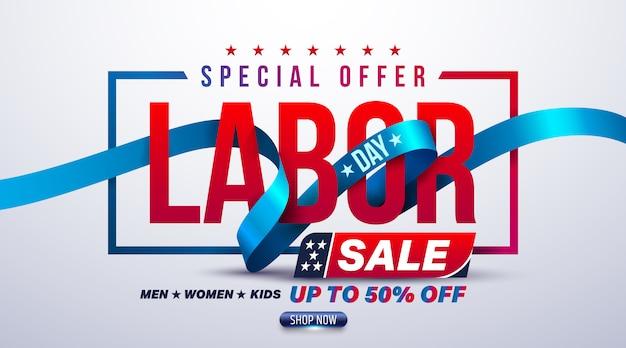 Happy labor day verkoop banner