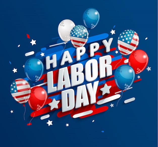 Happy labour day vakantie banner