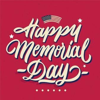 Happy memorial day belettering stijl