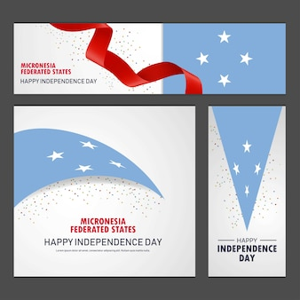 Happy micronesia federated states independence day