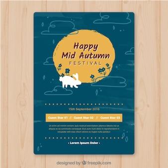 Happy mid autumn festival flyer
