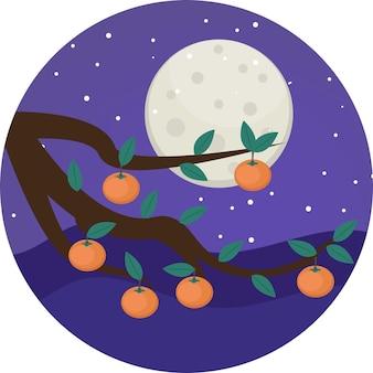 Happy mid herfst festival chuseok vector illustratie