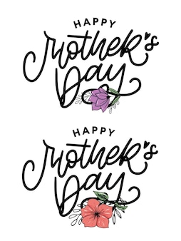 Happy mother's day belettering set