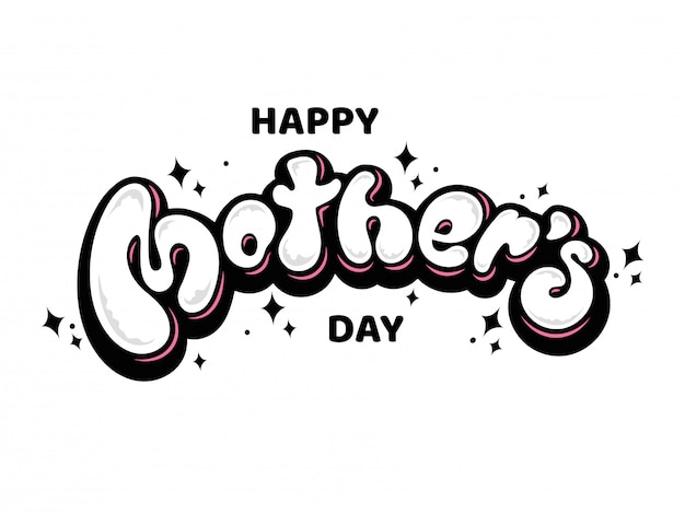Happy mother's day lettertype