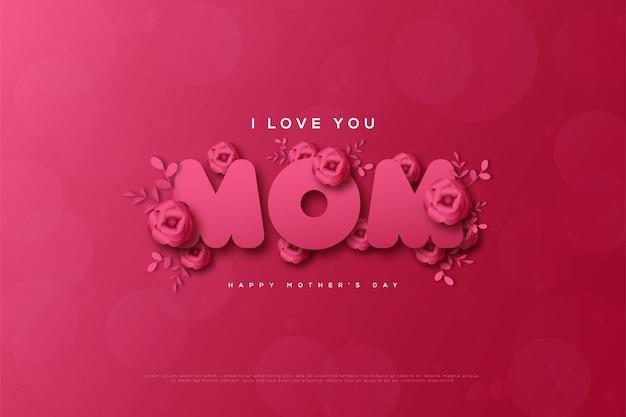 Happy mother's day met dezelfde tekst en