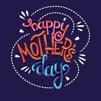 Happy mothers day hand belettering