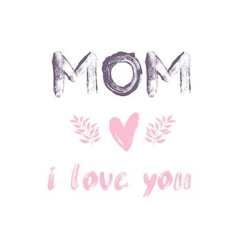 Happy mothers day-kaart.