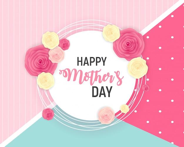 Happy mothers day leuke achtergrond met bloemen.