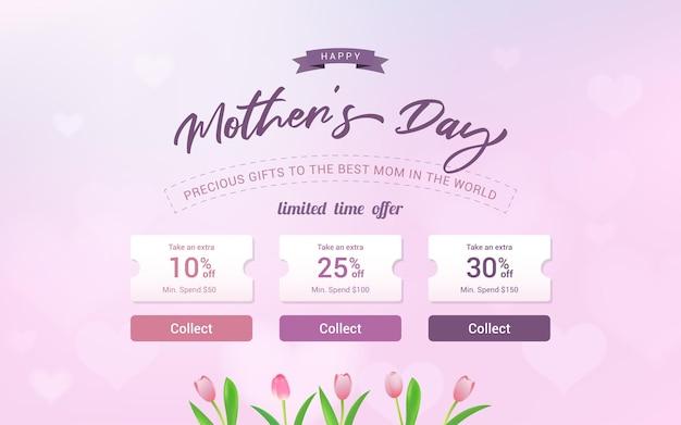 Happy mothers day verkoopsjabloon