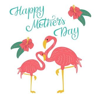 Happy mothers day wenskaartsjabloon