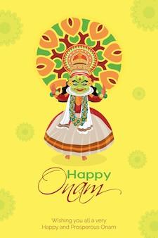 Happy onam festival banner ontwerpsjabloon