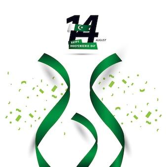 Happy pakistan onafhankelijke dag vector sjabloonontwerp