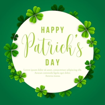 Happy patrick's day-banner met klaverbladeren