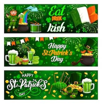 Happy patricks dag banners