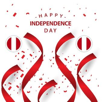 Happy peru onafhankelijke dag vector sjabloonontwerp