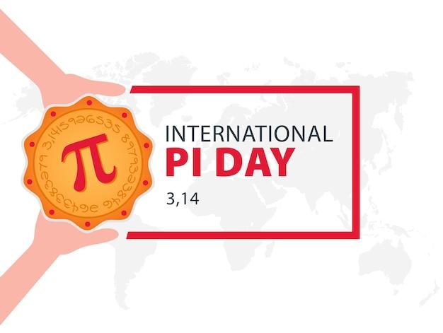 Happy pi day gebakken taart met pi-symbool