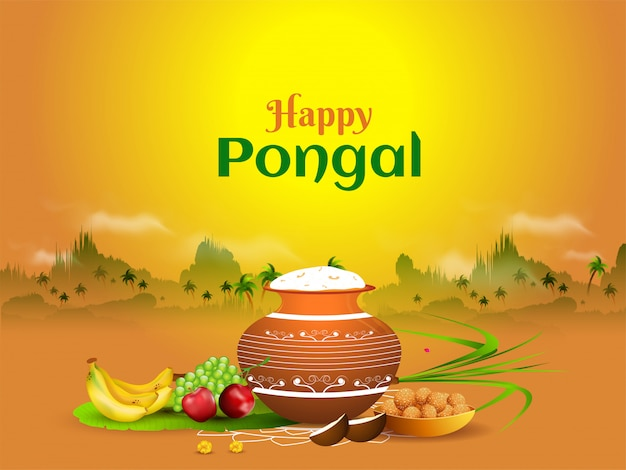 Happy pongal-kaart