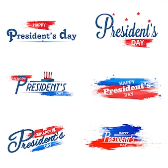 Happy president day calligraphy.