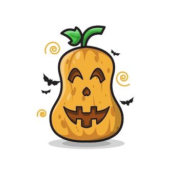 Happy pumpkin halloween leuke lijntekeningen illustratie