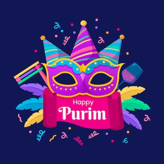 Happy purim dag banner