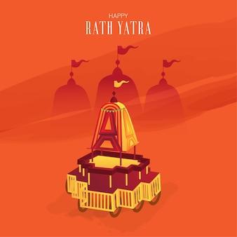 Happy rath yatra-festivalkaart