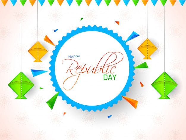 Happy republic day-sjabloon of posterontwerp