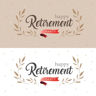 Happy retirement party elegant logo