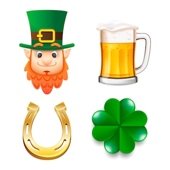 Happy saint patrick's day ingesteld