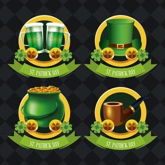 Happy saint patricks dag emblemen