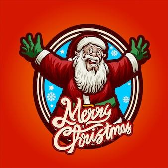 Happy santa claus-wenskaart