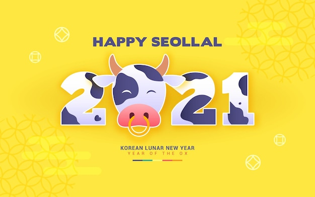Happy seollal (koreaans nieuw maanjaar - jaar van de os)