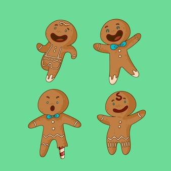 Happy smiley peperkoek man cookie collectie