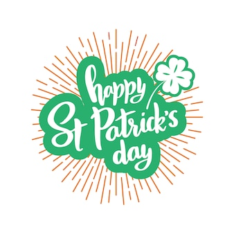 Happy st. patrick day banner met letters