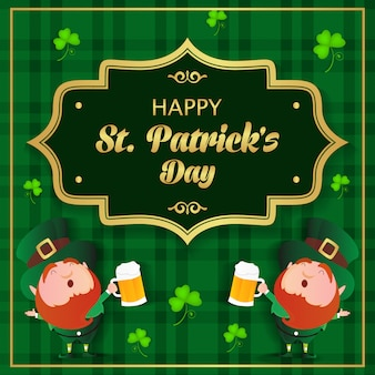 Happy st patrick's day achtergrond vector afbeelding
