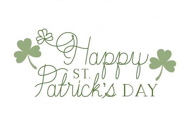 Happy st patrick's day label geïsoleerd pictogram